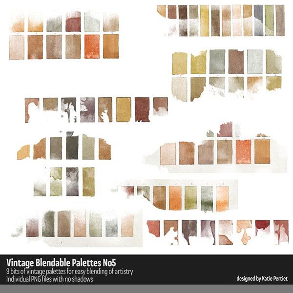 Vintage Blendable Palettes 05 Digital Art - Digital Scrapbooking Kits