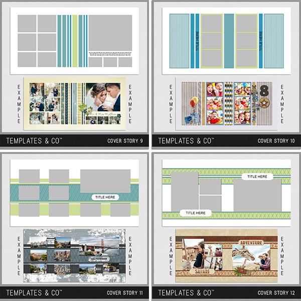 Cover Story 9-12 Digital Art - Digital Scrapbooking Kits