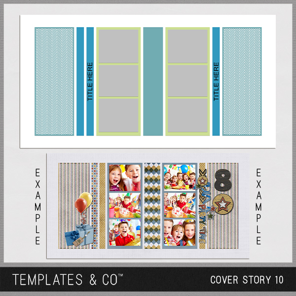 Cover Story 10 Digital Art - Digital Scrapbooking Kits