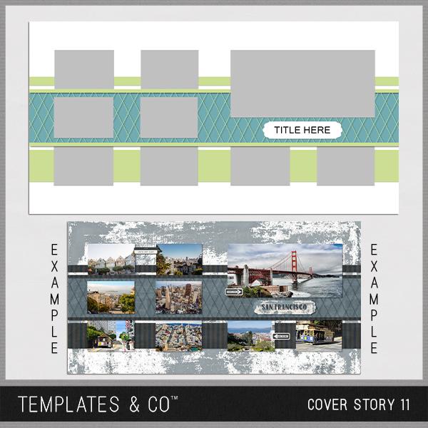 Cover Story 11 Digital Art - Digital Scrapbooking Kits