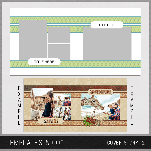 Cover Story 12 Digital Art - Digital Scrapbooking Kits