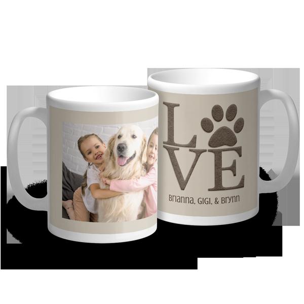 Paw Print Love Mug Mug
