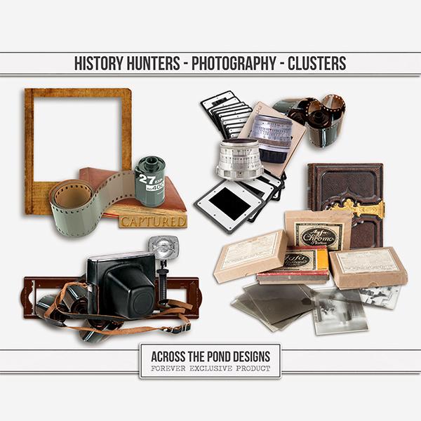 History Hunters - Photography- Clusters Digital Art - Digital Scrapbooking Kits