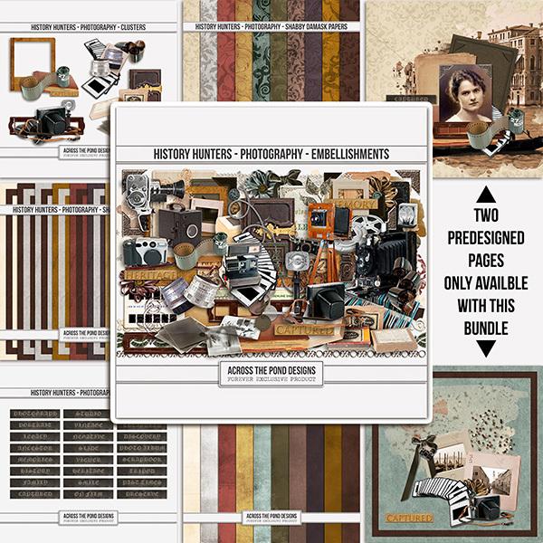 History Hunters - Photography- Bundle Digital Art - Digital Scrapbooking Kits