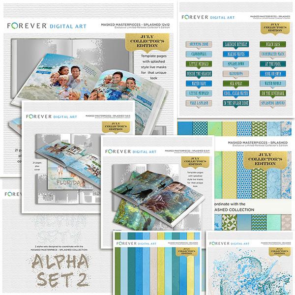 July Collector's Edition Mega Bundle Digital Art - Digital Scrapbooking Kits