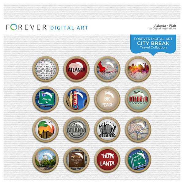 City Break - Atlanta -  Flair Digital Art - Digital Scrapbooking Kits