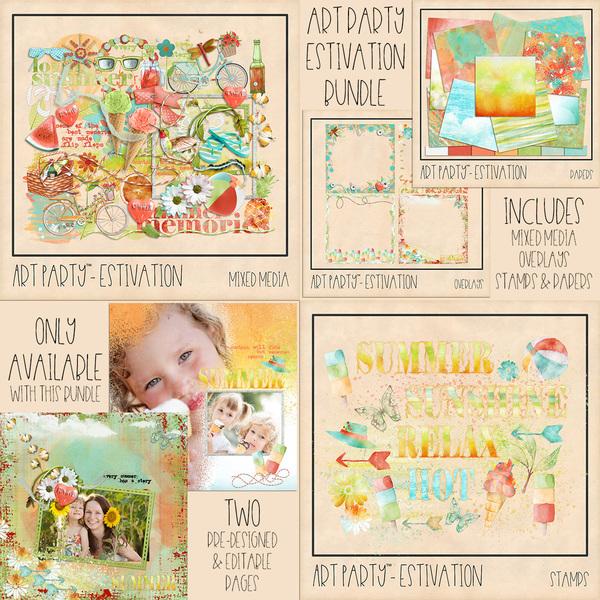 Estivation Complete Collection Digital Art - Digital Scrapbooking Kits