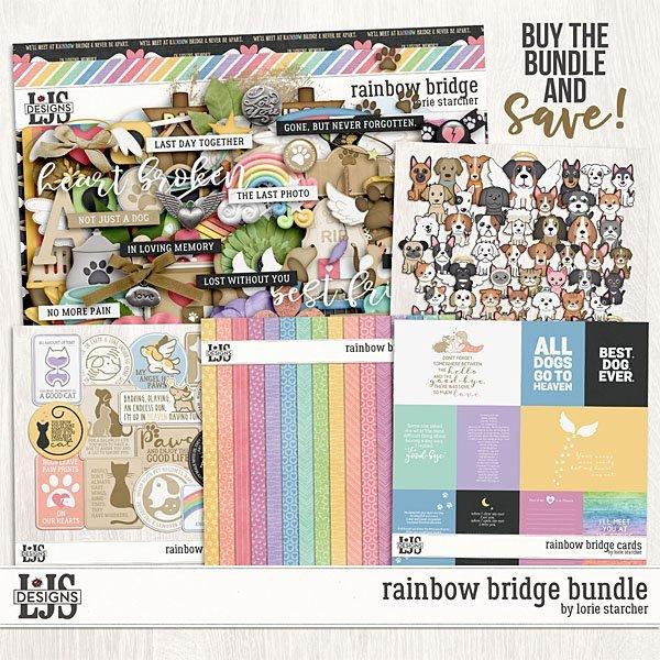 Rainbow Bridge Bundle Digital Art - Digital Scrapbooking Kits
