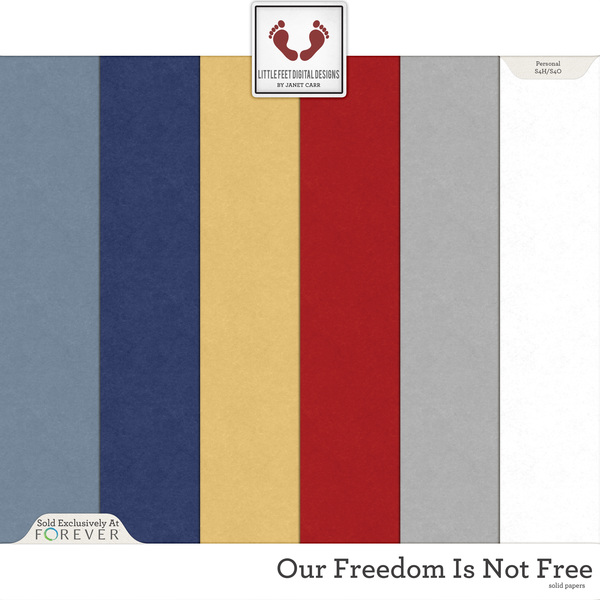 Our Freedom Is Not Free Solid Papers Digital Art - Digital Scrapbooking Kits