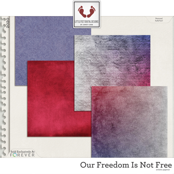 Our Freedom Is Not Free Artistic Papers 2 Digital Art - Digital Scrapbooking Kits