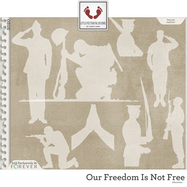 Our Freedom Is Not Free Silhouettes Digital Art - Digital Scrapbooking Kits