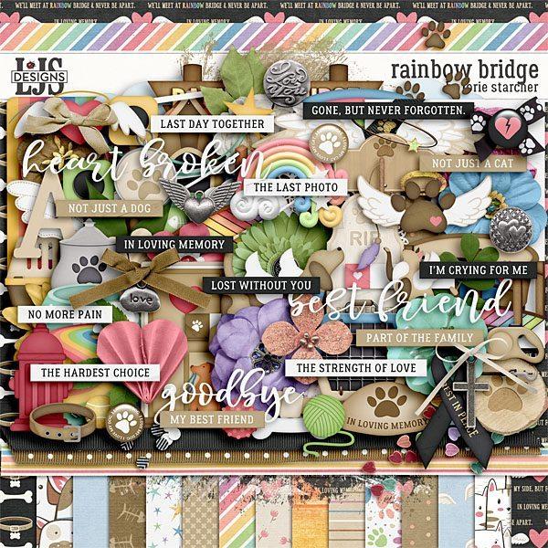 Rainbow Bridge Digital Art - Digital Scrapbooking Kits