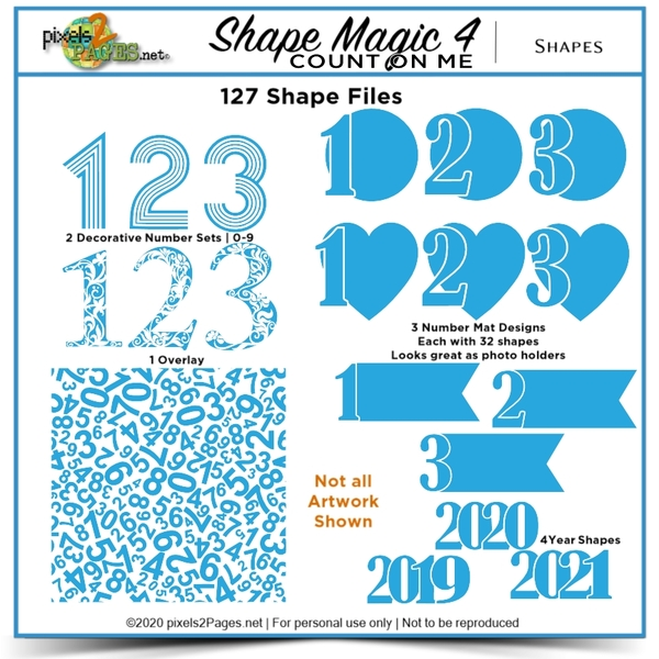 Shape Magic 4 - Count On Me Digital Art - Digital Scrapbooking Kits