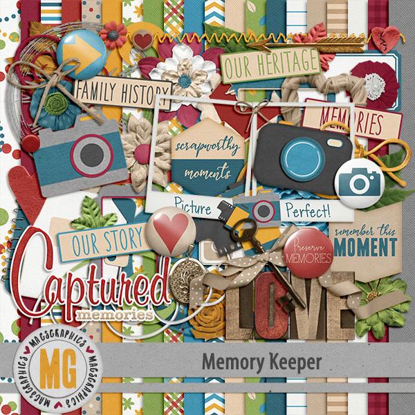 Memory Keeper Kit Digital Art - Digital Scrapbooking Kits