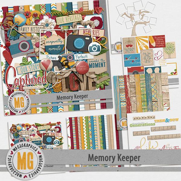 Memory Keeper Bundle Digital Art - Digital Scrapbooking Kits