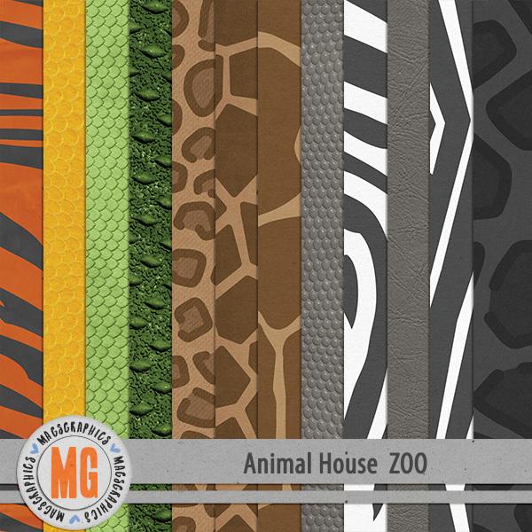 Animal House - Zoo Specialty Papers Digital Art - Digital Scrapbooking Kits