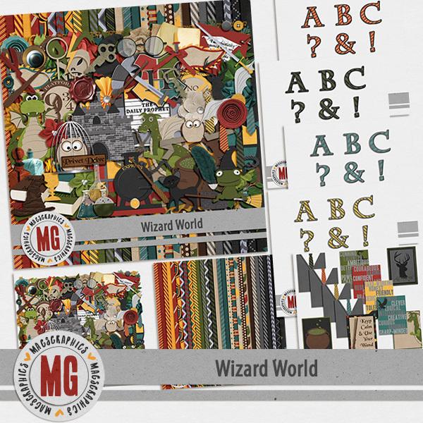 Wizard World Bundle Digital Art - Digital Scrapbooking Kits