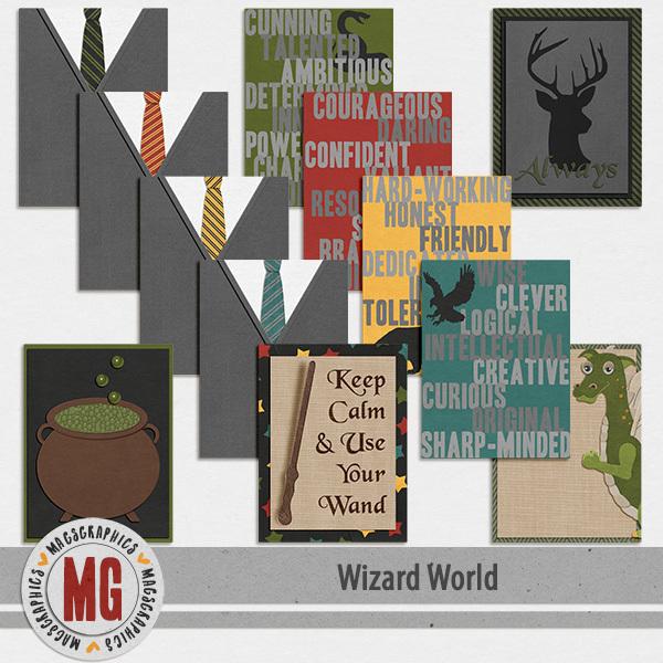 Wizard World Journal Cards Digital Art - Digital Scrapbooking Kits