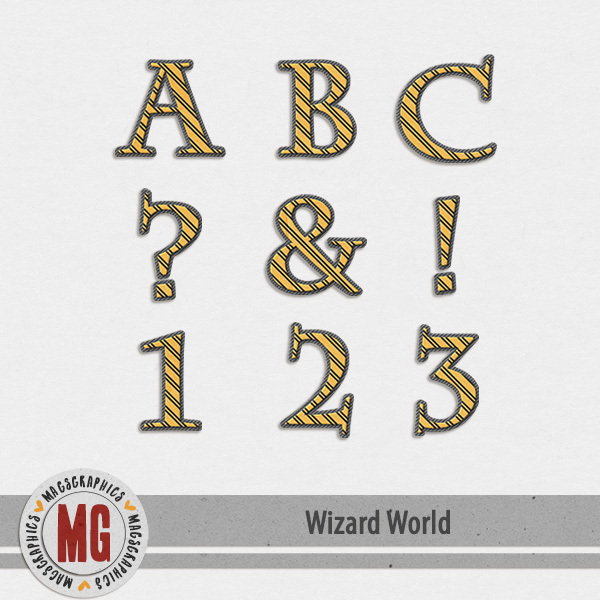 Wizard World Alpha 4 Digital Art - Digital Scrapbooking Kits