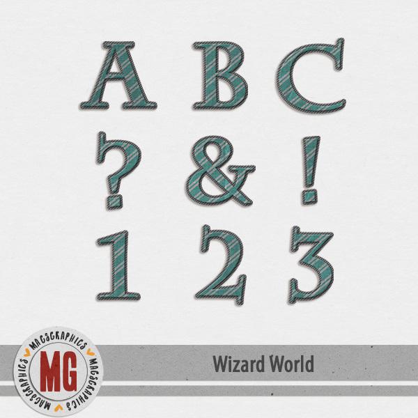 Wizard World Alpha 3 Digital Art - Digital Scrapbooking Kits