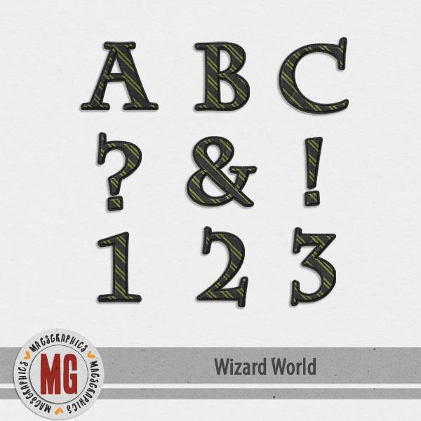Wizard World Alpha 2 Digital Art - Digital Scrapbooking Kits
