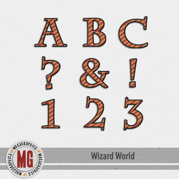 Wizard World Alpha 1 Digital Art - Digital Scrapbooking Kits