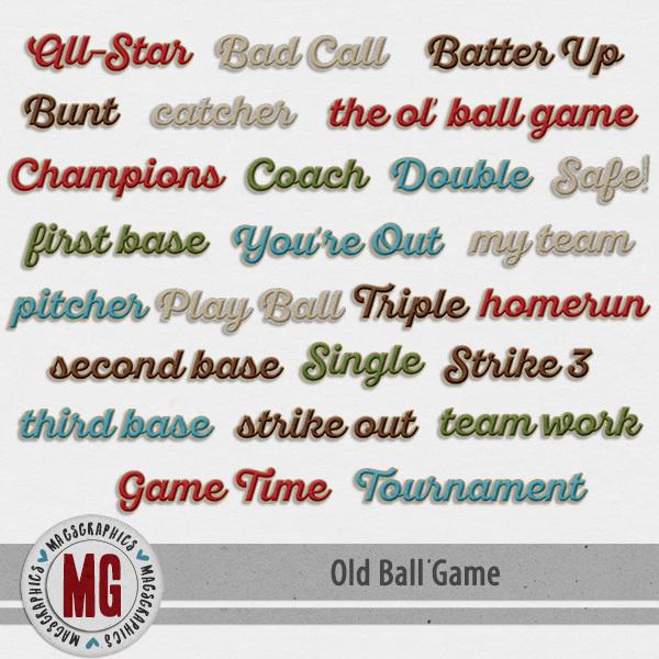 Old Ball Game Titles Digital Art - Digital Scrapbooking Kits