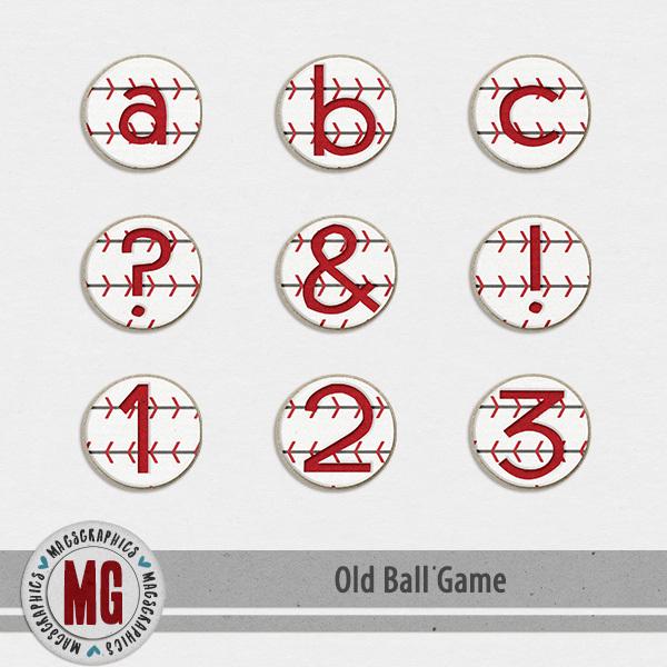 Old Ball Game Alpha Digital Art - Digital Scrapbooking Kits
