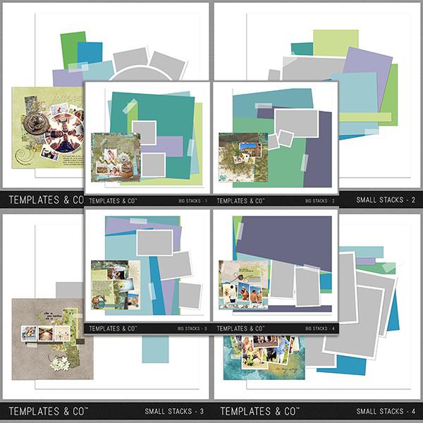 Big Stacks & Small Stacks Bundle Digital Art - Digital Scrapbooking Kits