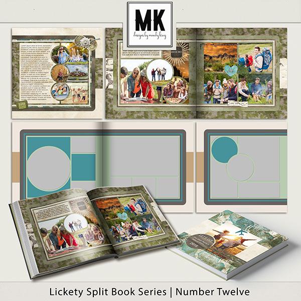Lickety Split Book Series - Number Twelve Digital Art - Digital Scrapbooking Kits