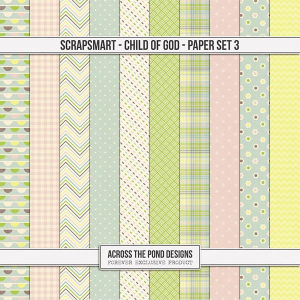 ScrapSmart - Child of God - Paper Set 3 Digital Art - Digital Scrapbooking Kits