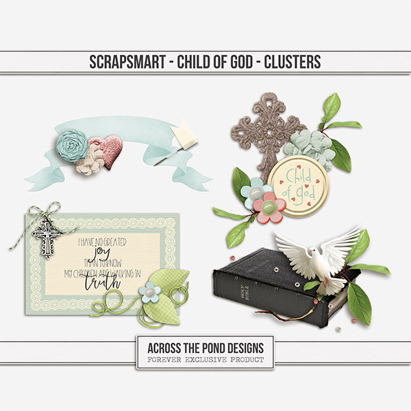 ScrapSmart - Child of God - Clusters Digital Art - Digital Scrapbooking Kits