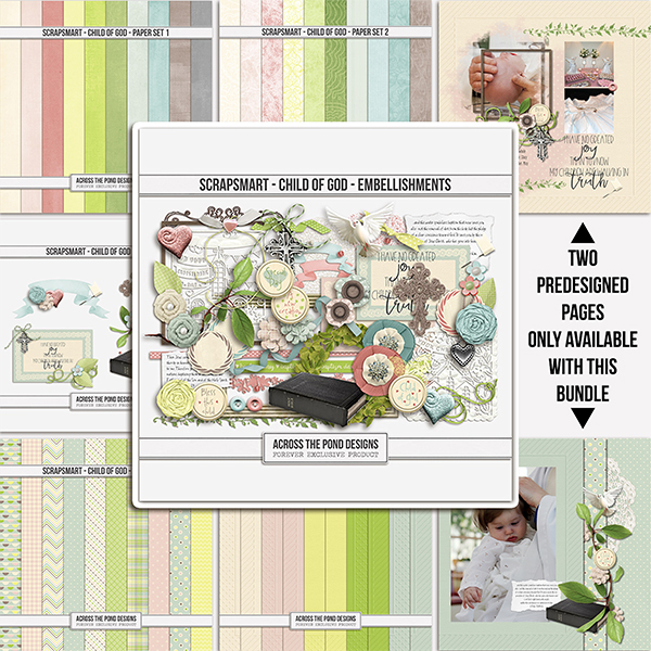 ScrapSmart - Child of God - Bundle Digital Art - Digital Scrapbooking Kits