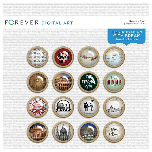 City Break - Rome - Flair Digital Art - Digital Scrapbooking Kits