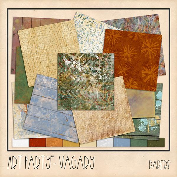 Vagary Papers Digital Art - Digital Scrapbooking Kits