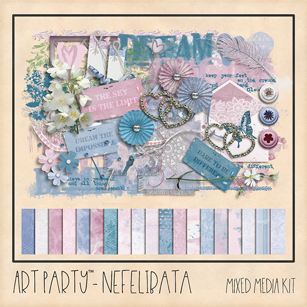 Nefelibata Page Kit Digital Art - Digital Scrapbooking Kits