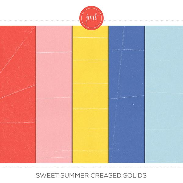Sweet Summer Creased Solids Digital Art - Digital Scrapbooking Kits