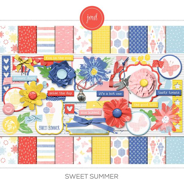 Sweet Summer Digital Art - Digital Scrapbooking Kits