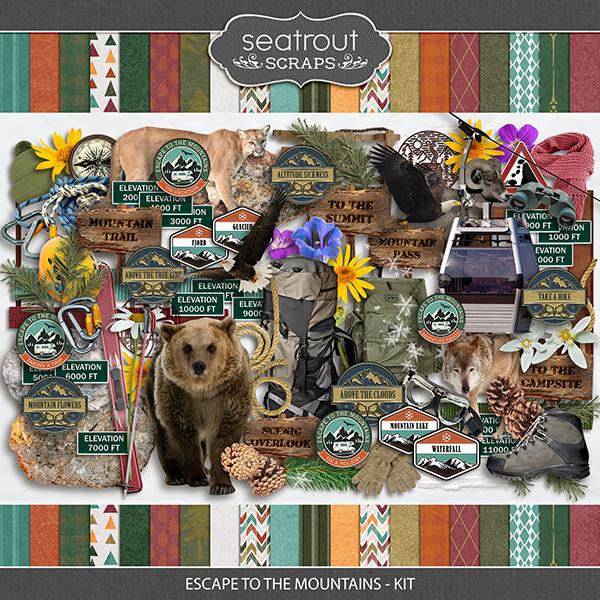Escape to the Mountains - Kit Digital Art - Digital Scrapbooking Kits