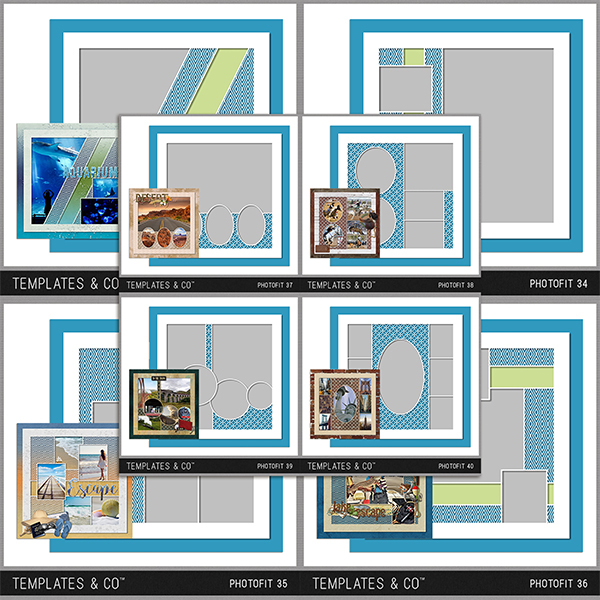 Photofit 33-40 Digital Art - Digital Scrapbooking Kits