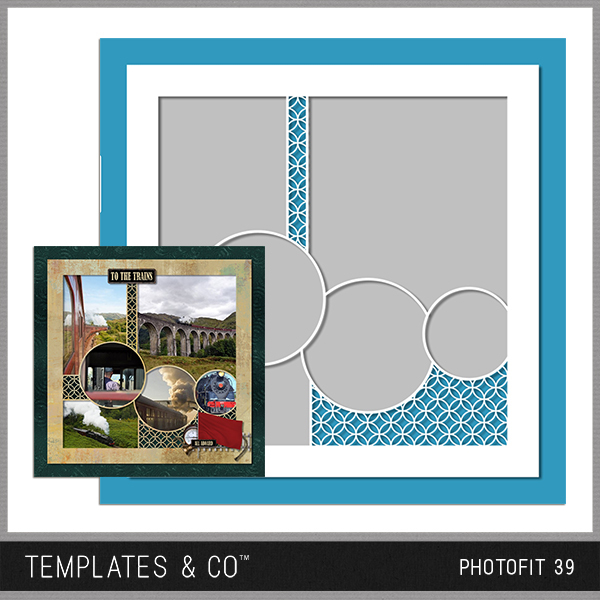Photofit 39 Digital Art - Digital Scrapbooking Kits