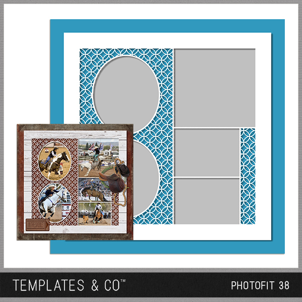 Photofit 38 Digital Art - Digital Scrapbooking Kits