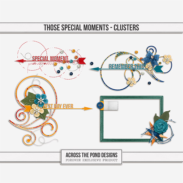Those Special Moments - Clusters Digital Art - Digital Scrapbooking Kits