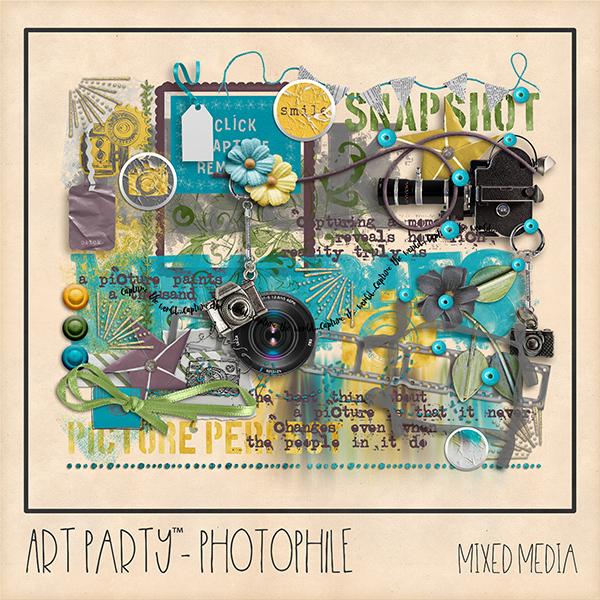 Photophile Mixed Media Digital Art - Digital Scrapbooking Kits