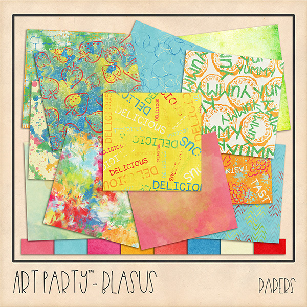 Blasus Papers Digital Art - Digital Scrapbooking Kits
