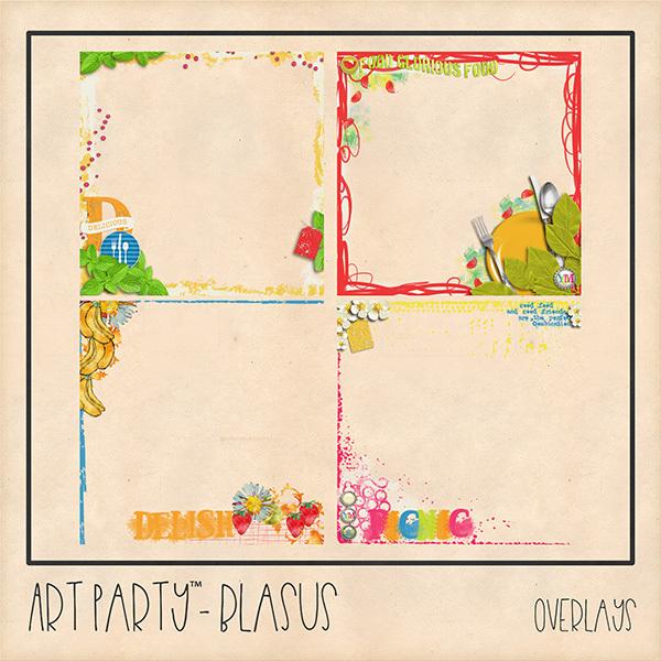 Blasus Overlays Digital Art - Digital Scrapbooking Kits