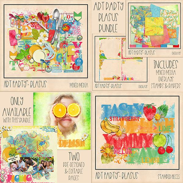 Blasus Complete Collection Digital Art - Digital Scrapbooking Kits