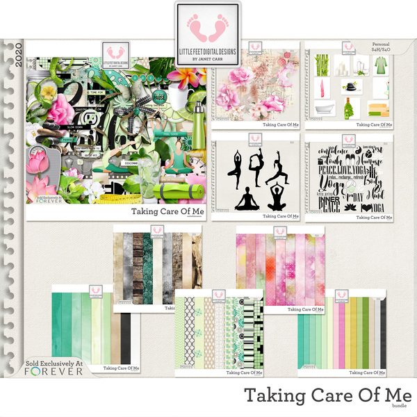 Taking Care Of Me Bundle Digital Art - Digital Scrapbooking Kits