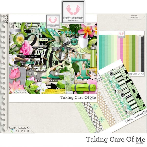 Taking Care Of Me Digital Kit Digital Art - Digital Scrapbooking Kits