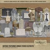 Vintage Memories Grave Stones Elements